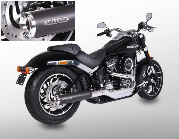 Auspuff,Softail Sport Glide, Harley Davidson®,Milwaukee Eight,Legal, EG/BE, EURO4