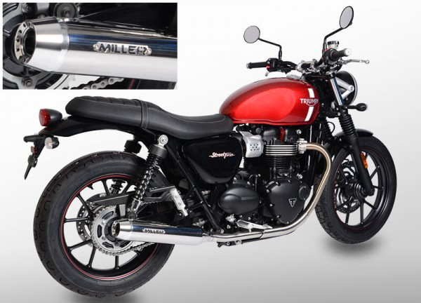 Auspuff,Street Twin,Triumph®,Legal, EG/BE, EURO4