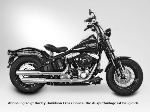 Auspuff,Softail Deluxe,Harley Davidson®,Legal, EG/BE, EURO4