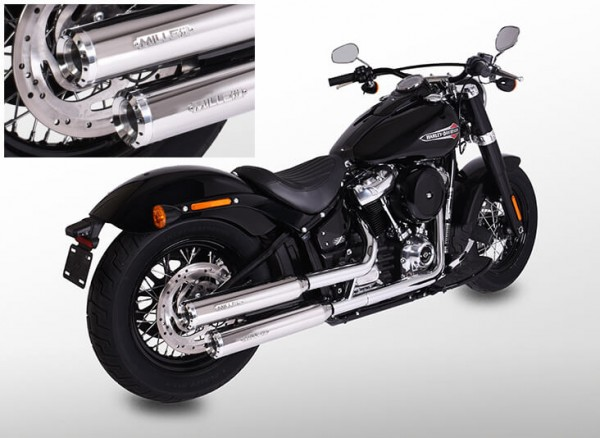 Auspuff,Softail Street Bob,Harley Davidson®,Milwaukee Eight,Legal, EG/BE, EURO4
